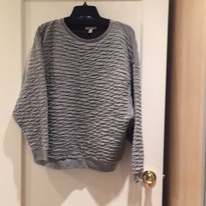 Zara oversized textured sweatshirt